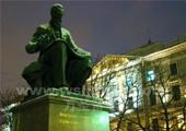夜晚的圣彼得堡音乐学院